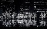 Romantic city winter