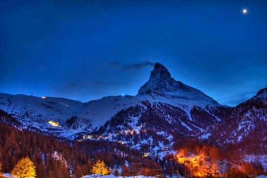 Luxury ski resort europe